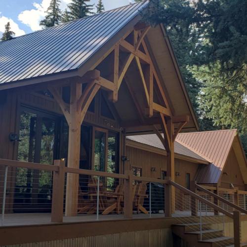 Colorado Timberframe Deck